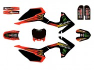 Kit déco N'STYLE / MONSTER - Type CRF110 - Rouge
