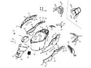 N°361 - Flan de carénage inférieur gauche - Blanc/Jaune
