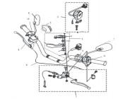 N°9 - Levier de frein avant - câble
