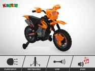 Moto électrique enfant KINGTOYS - Cobra 18W - Jaune