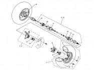 N°7 - Pivot de roue - Gauche