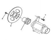 N°1 - Support de disque de frein arrière