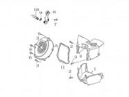 FIG. 12 - Caches plastiques moteur