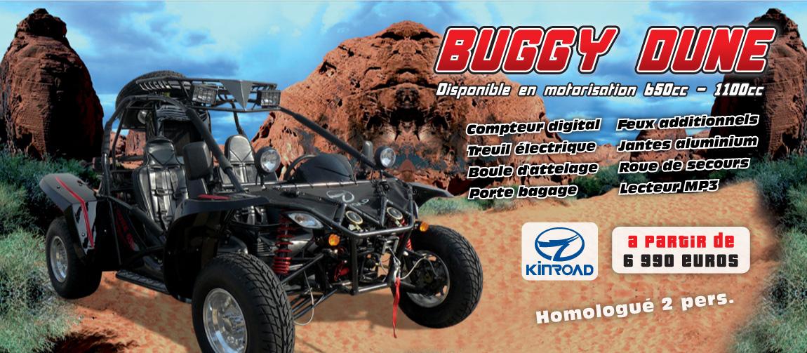 Buggy KINROAD 650/1100cc - Buggy Dune Homologué