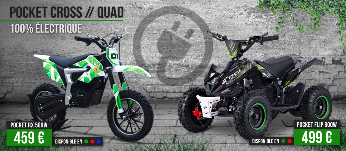 Pocket Quad / Pocket Bike Electrique 500 et 800W