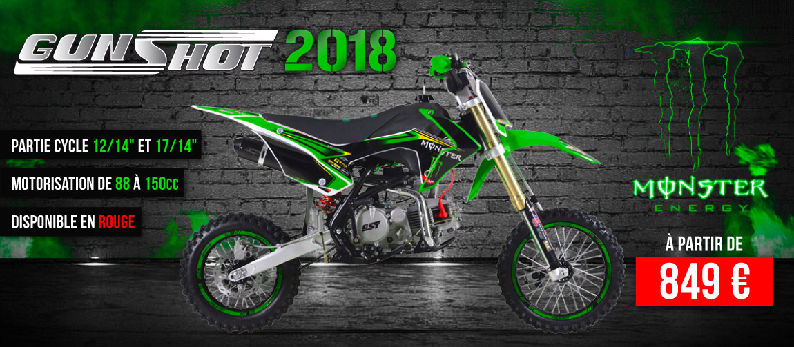 Gamme Pit Bike GUNSHOT 2017 - Edition MONSTER