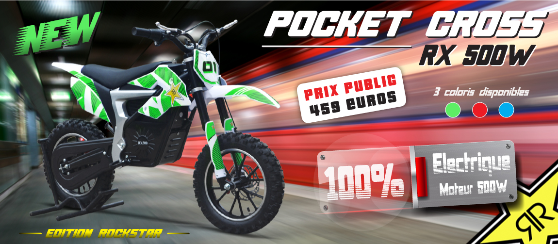 Pocket Cross RX 500W - Pocket Bike Electrique