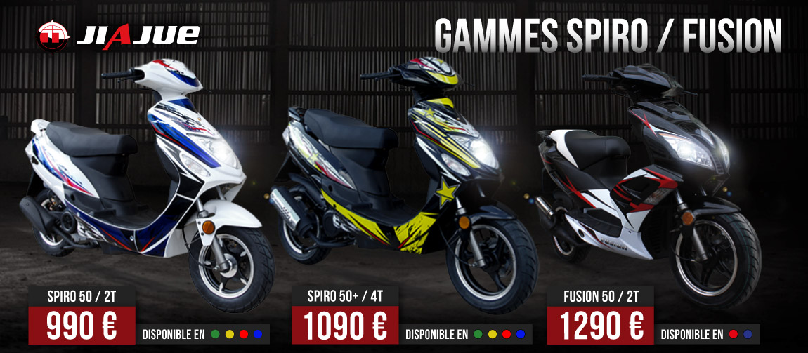 Gamme Scooter 50ccc 2/4 Temps - SPIRO / FUSION JIAJUE