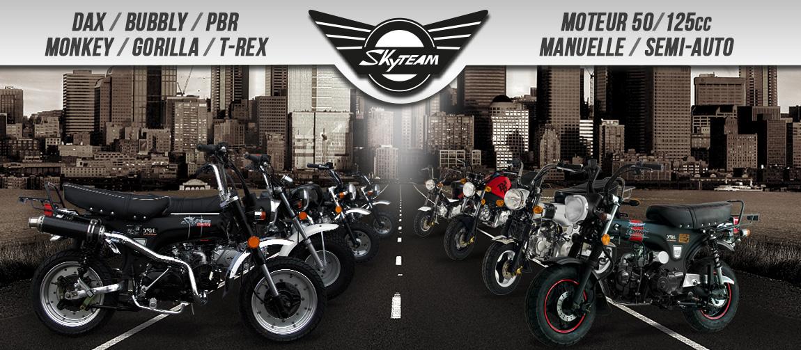 Moto SKYTEAM 50/125 cm3 - Dax / PBR / Monkey / Gorilla / Bubbly