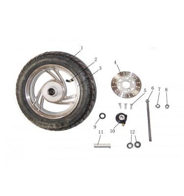 N°6 - Axe de roue avant