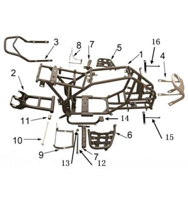 N°2 - Bras oscillant - Section carrée - Noir