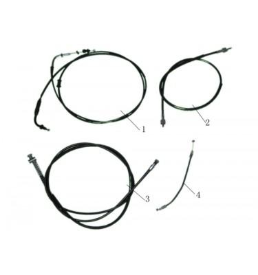 N°1 - Câble d'accélérateur - Vissée (199 cm)