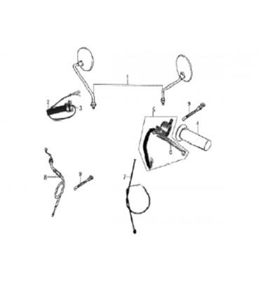 N°7 - Câble d'embrayage - Embout fileté