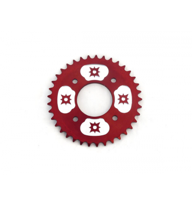 Couronne #420 - 58mm - 37 Dents - Alu - Rouge