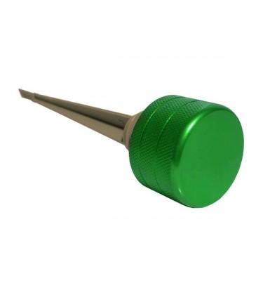Jauge à huile - Alu - Vert