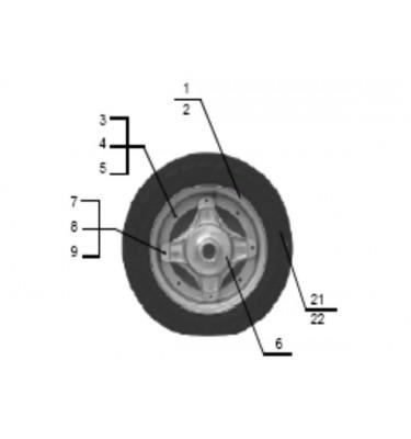 N°6 - Moyeu de roue avant - Noir