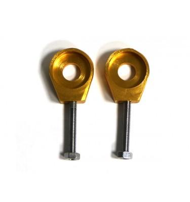 Tendeurs de chaîne alu rond - 15/6mm - Or