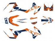 Kit déco GUNSHOT ONE - Type KTM - Orange