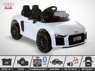 Voiture électrique enfant KINGTOYS - Audi R8 40W - Blanc