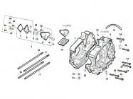 N°1 - Carter moteur droit - 50cc