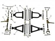 N°4 - Entretoise de pivot de roue