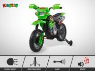 Moto électrique enfant KINGTOYS - Cobra 18W - Vert