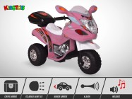 Moto électrique enfant KINGTOYS - Craper 20W - Rose