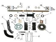 N°26 - Moyeu de roue arrière - 3 trous