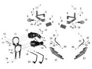 N°9 - Support de clignotant arrière droit