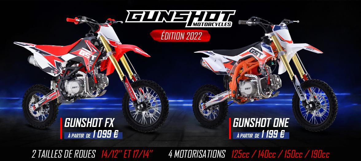 Gamme Pit Bike GUNSHOT FX et ONE 2021