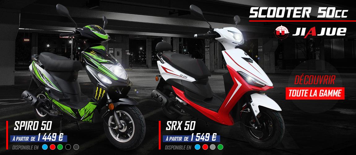 Gamme Scooter 50ccc 4 Temps - SPIRO / SRX 50 JIAJUE